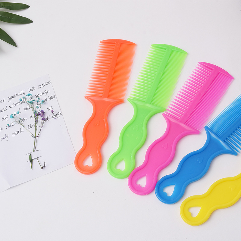 Double sided plastic hair comb